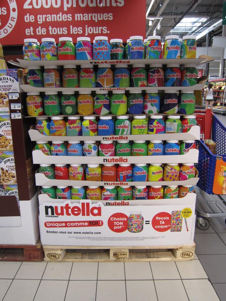 Nutella 100 000 pots collectors 18marketing - Petit pot de nutella ...
